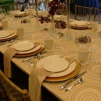 Flowers & Decor, ivory, purple, gold, Tables & Seating, Chiavari, Chair, Chairs, Napkins, Satin, Pattern, Venice, Cushions