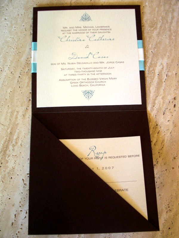 Stationery, invitation, Modern, Modern Wedding Invitations, Invitations, Elegant, Tiffany, Ribbon, Bg designs, Wrapped, Pocketfol