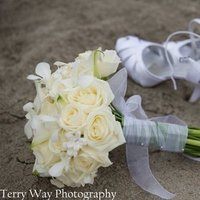 Flowers & Decor, Shoes, Beach Wedding Dresses, Fashion, Beach, Flowers, Beach Wedding Flowers & Decor, Weddings, Beautiful, Summertime, Terry way photography, Flower Wedding Dresses