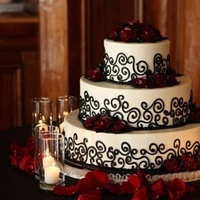 Cakes, red, black, cake, Wedding, Hansens, Hansens cakes