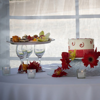 Cakes, white, red, Wedding, And, Lydell photography