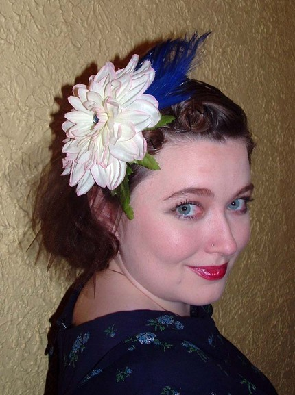 Beauty, Feathers, Vintage, Hair, Something blue, Retro, Clip, Feather, Non-traditional, Tart deco, Rockabilly