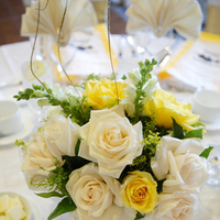 Reception, Flowers & Decor, white, ivory, yellow, Centerpieces, Centerpiece, Wedding, Resort, Pacific palms resort, Pacific, Palms