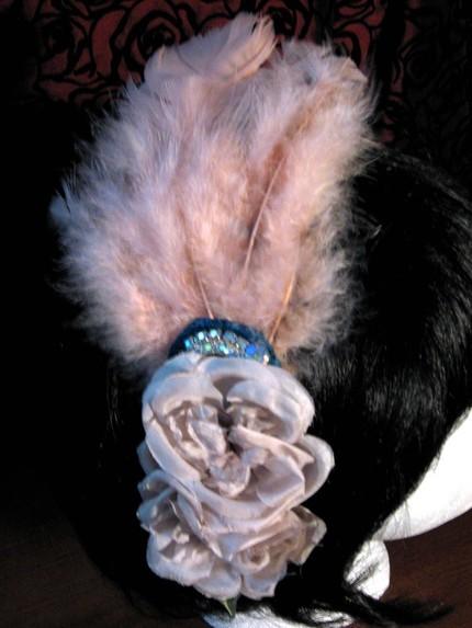 Beauty, Feathers, Feather, 20s, Art deco, Hair flower, Rockabilly