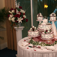 Cakes, burgundy, silver, cake, inc, Walmart, Weddings by stephanie