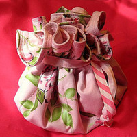 Flowers & Decor, Jewelry, Flower, Girl, Bridesmaid, Mother, Bag, Accessory, Moh, Sister, Pouch, Roll, Chamberrycherrydesigns, Drawstring