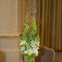 Reception, Flowers & Decor, white, ivory, green, Centerpieces, Modern, Centerpiece, Of, Glass, Bells, Ireland, Kale, Moda floral event design