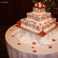 Flowers & Decor, Cakes, white, red, cake, Flowers, Squarecake, The historic del monte building