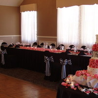Flowers & Decor, Cakes, white, pink, black, cake, Flowers, Headtable, Chaircovers, The historic del monte building