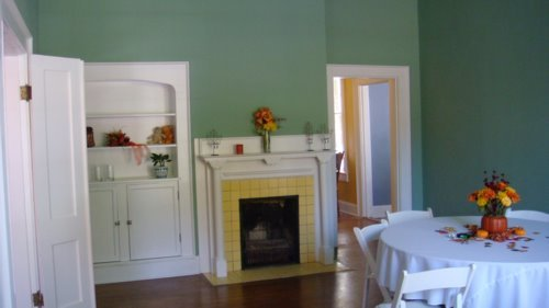 Flowers & Decor, green, Tables & Seating, And, Chairs, Tables, Historic, Parlor, Jade, Parlor for reception