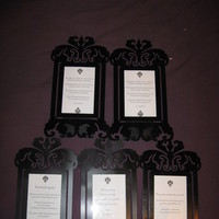 white, black, Picture, Sign, Damask, Frames