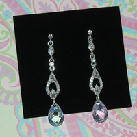 Jewelry, silver, Earrings, Crystal, Drop