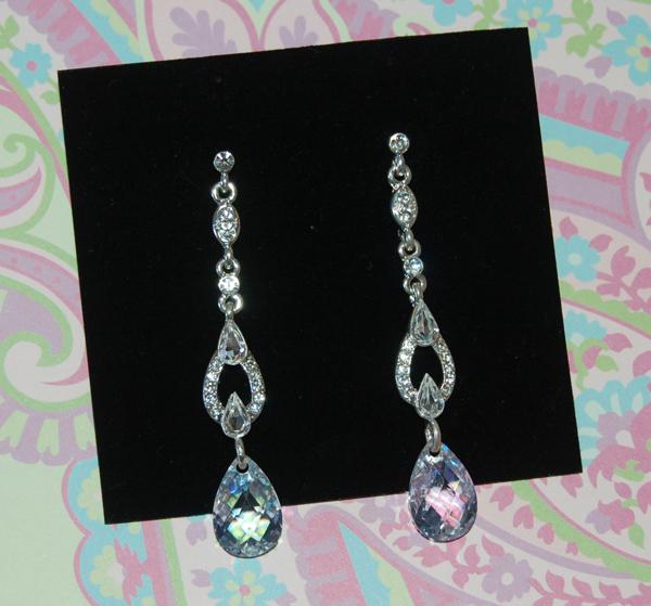 Jewelry, silver, Earrings, Crystal, Drop