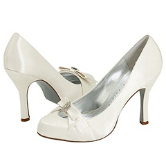 Shoes, Fashion, white, ivory, Wedding, Bridal, Bow, Pump, Zappos, Platform, Hidden