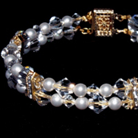 Jewelry, Bracelets, Pearls, Bracelet, Crystals, Three brides designs