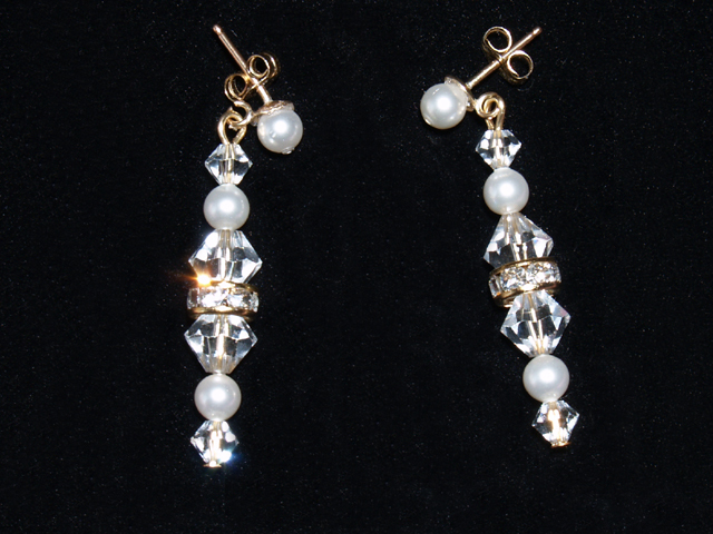 Jewelry, Earrings, Pearls, Crystals, Three brides designs
