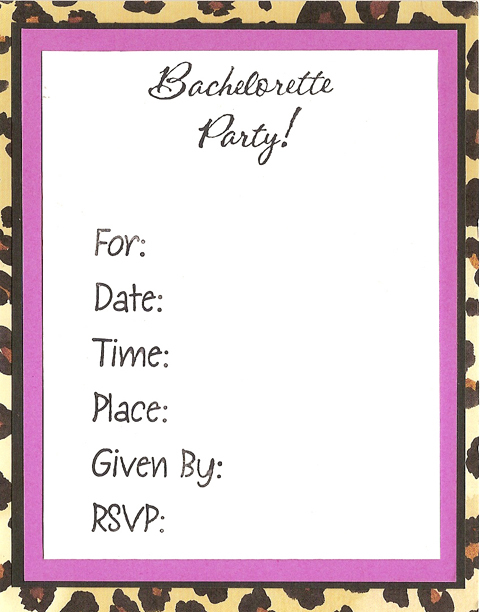 Party, Bachelorette, Three brides designs, Animal print