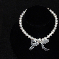 Pearls, Ribbon, Necklace, Crystals, Three brides designs