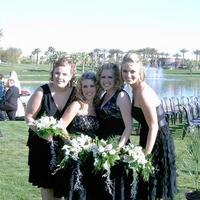 Flowers & Decor, white, black, Bride Bouquets, Bridesmaid Bouquets, Bride, Flowers, Bridesmaid, And, Bouquets, Ever after florals