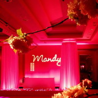 Flowers & Decor, pink, Lighting, Flowers, Dance, Gobo, Floor, Mitzvah, Ma, High output - lighting and av services - boston