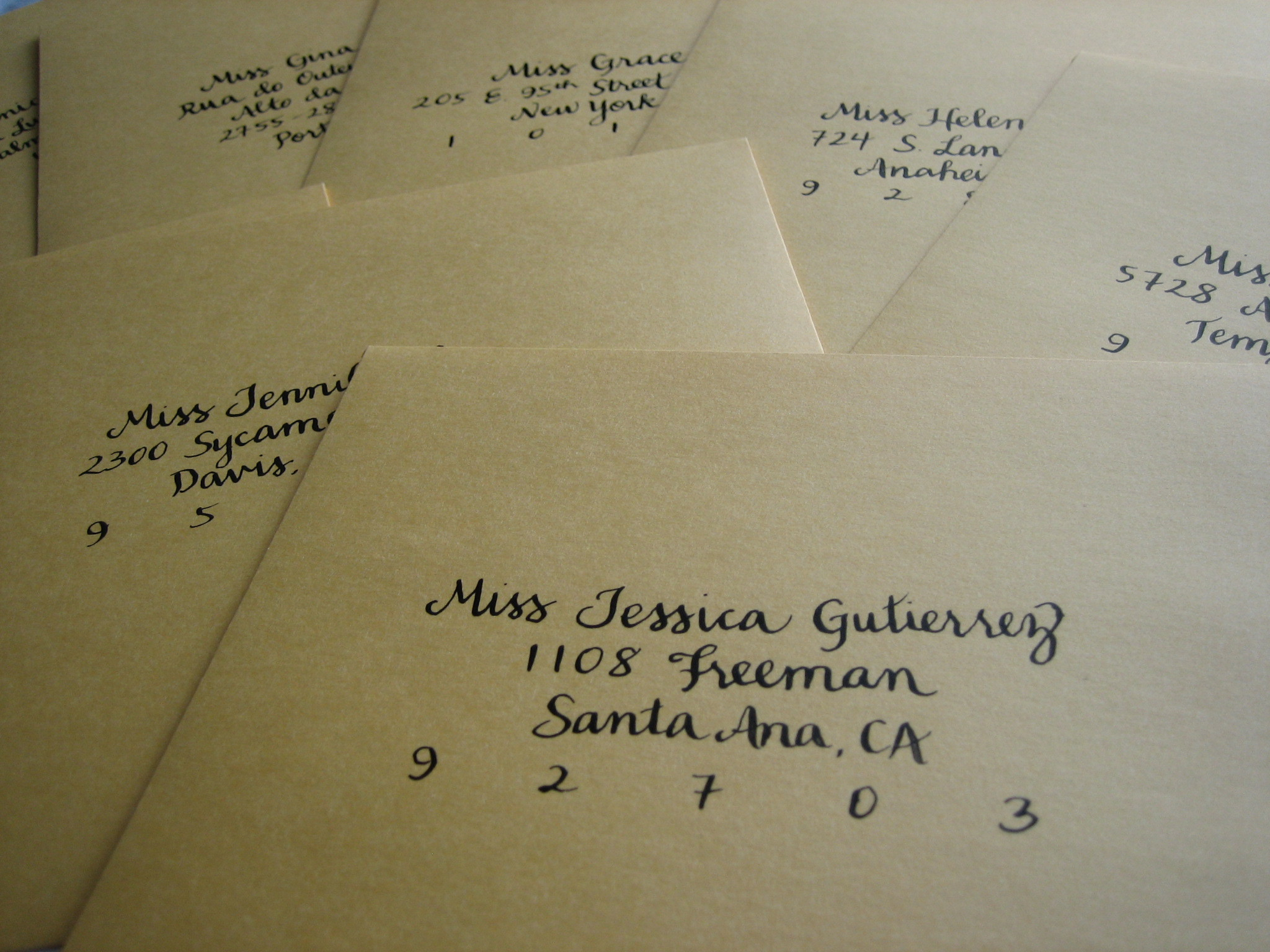 Calligraphy, Stationery, Invitations, Leafie calligraphy