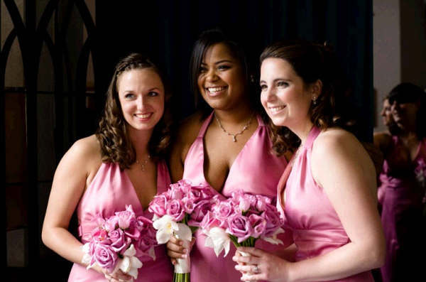 Ceremony, Flowers & Decor, Bridesmaids, Bridesmaids Dresses, Fashion, pink, Ceremony Flowers, Bridesmaid Bouquets, Flowers, Flower Wedding Dresses