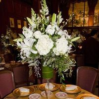 white, Centerpieces, Serendipity event planning