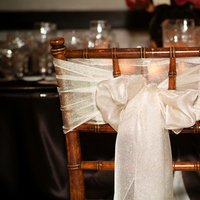 Reception, Flowers & Decor, ivory, brown, Wedding, Chocolate, Champagne, Chair, Sash, Bow, Antique, Chivari, Fruitwood