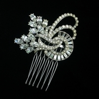 Bridal, Rhinestone, Deco, Haircomb, Belcanto bridal designs