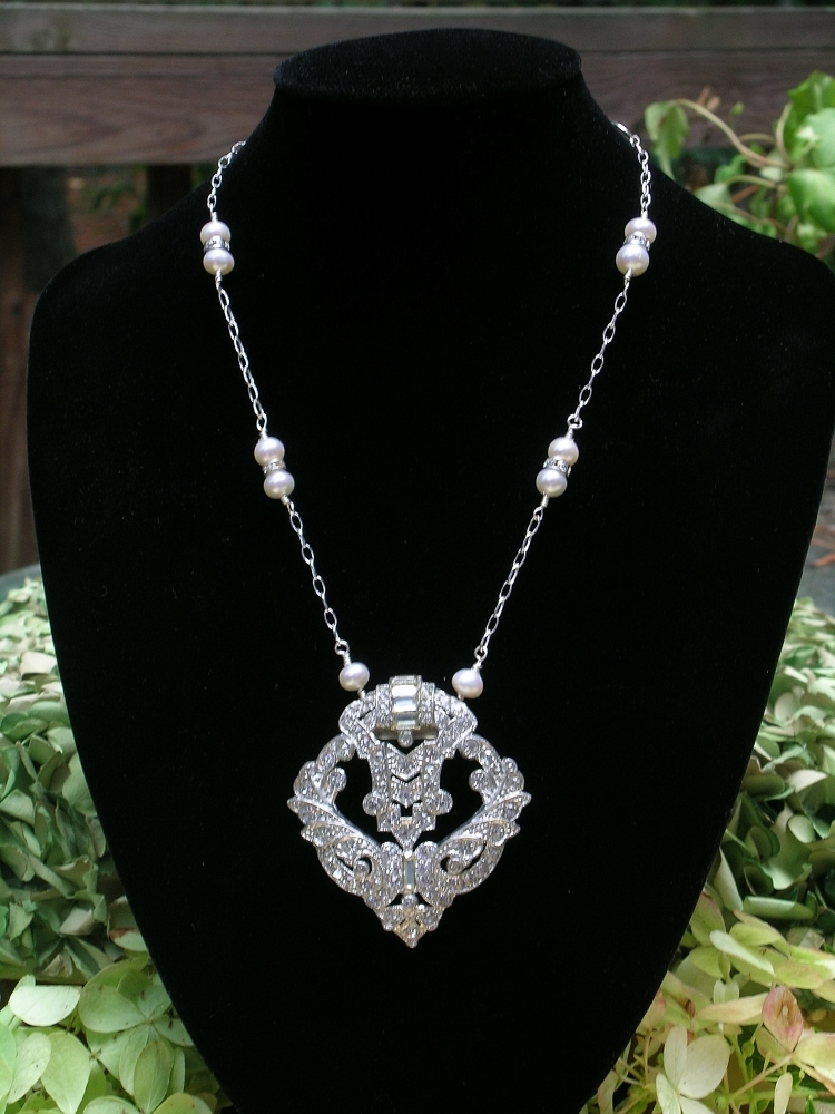 Bridal, Necklace, Rhinestone, Deco, Belcanto bridal designs