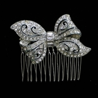 Bow, Rhinestone, Deco, Haircomb, Belcanto bridal designs