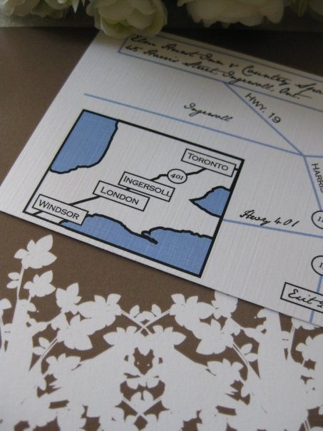 Stationery, Invitations, Map, Wedding, Custom, Custom invites