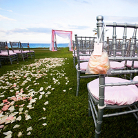 Ceremony, Flowers & Decor, pink, silver, Ceremony Flowers, Tables & Seating, Flowers, Chairs, Something blu events