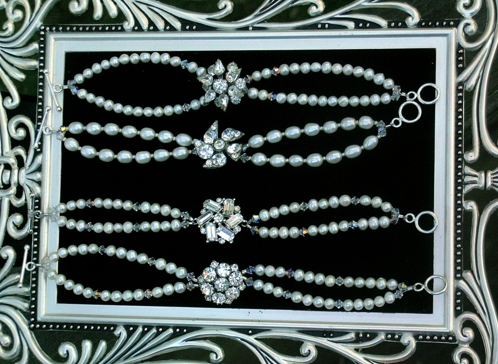 Jewelry, Bracelets, Bridesmaid, Rhinestone, Pearl, Belcanto bridal designs