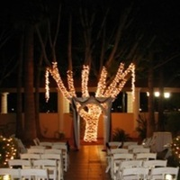 Ceremony, Flowers & Decor, white, Fountain, Lights, Night, Crowne plaza san marcos golf resort