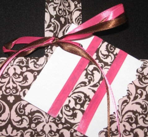 Custom, Chocolate, Bm, Damask, Totebag