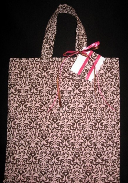 pink, Chocolate, Bm, Damask, Totebag