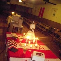 Reception, Flowers & Decor, Cakes, red, cake, Wedding, Table, Budget events