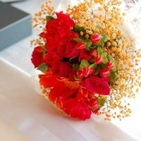 Flowers & Decor, orange, pink, Bride Bouquets, Flowers, Bouquet, inc, Hot, Fuchsia, Weddings by stephanie