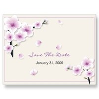 Stationery, purple, Spring, Summer, Announcements, Custom, Bridal, Unique, Blossom, Cherry, Flourish, Announcement, Ruxique, Ruxiques little art shop, Sakura