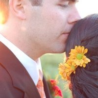 Beauty, Flowers & Decor, yellow, Flower, Hair, inc, Style, Weddings by stephanie