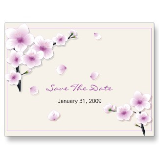 Stationery, purple, Spring, Summer, Announcements, Custom, Bridal, Unique, Blossom, Cherry, Flourish, Announcement, Ruxique, Ruxiques little art shop, Sakura