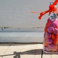 Favors & Gifts, orange, pink, Favors, Candy, inc, Bottle, Weddings by stephanie, Mm