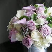 Flowers & Decor, white, purple, Bride Bouquets, Flowers, Bouquet, Calla lily, Rose