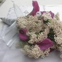 white, purple, Bride, Bouquet, Flor bellisimo