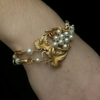 Jewelry, gold, Bracelets, Grape, Bracelet, Pearl, Antique, Belcanto bridal designs