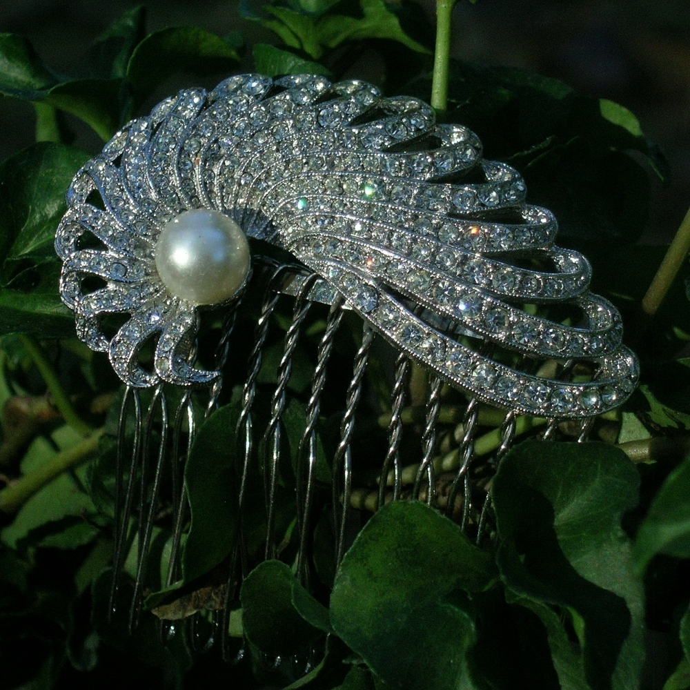 Rhinestone, Pearl, Haircomb, Belcanto bridal designs
