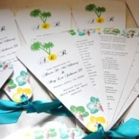 Stationery, Destinations, Ceremony Programs, Wedding, Program, Destination, Fans, Ana de roux invitations and design