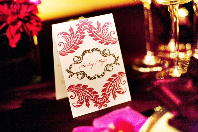 Reception, Flowers & Decor, Decor, Place Cards, City, Wedding, San, Francisco, Plum, Sophisticated