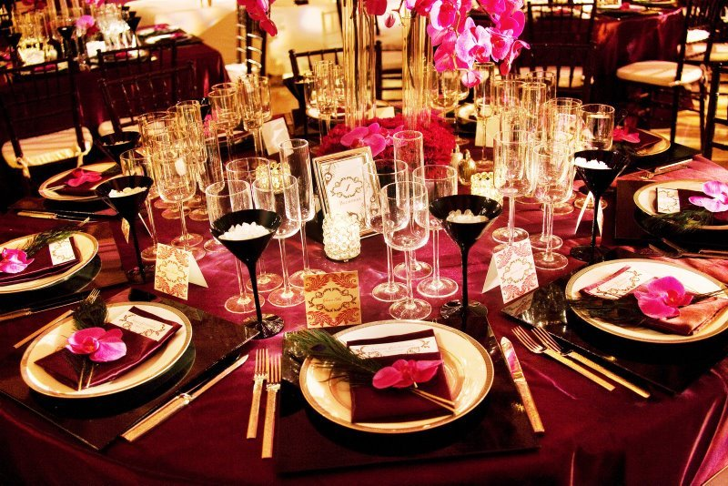 Reception, Flowers & Decor, Decor, Flowers, City, Wedding, San, Francisco, Plum, Floral arrangements, Sophisticated